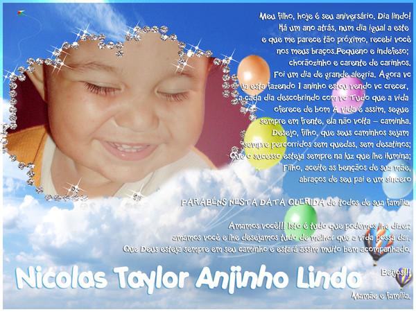 Mensagem De Aniversario De Um Ano Para Filho: Mensagens De Aniversário