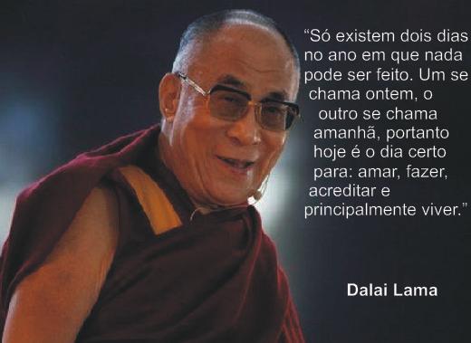 Frases de Dalai Lama - Otimismo e Facebook | Mensagens
