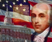 James Madison with flag