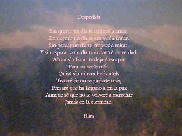 Poemas De Despedida Cortos