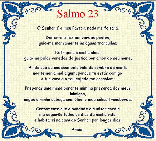 salmo 23 completo Para Imprimir Colorido