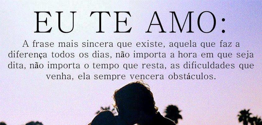 Eu te amo! Frase de Amor